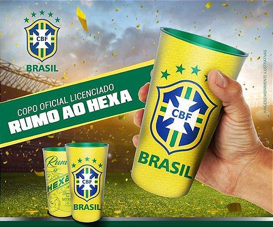 Copo Oficial Colecionável Brasil CBF Copa do Mundo 2018 770 ml Amarelo
