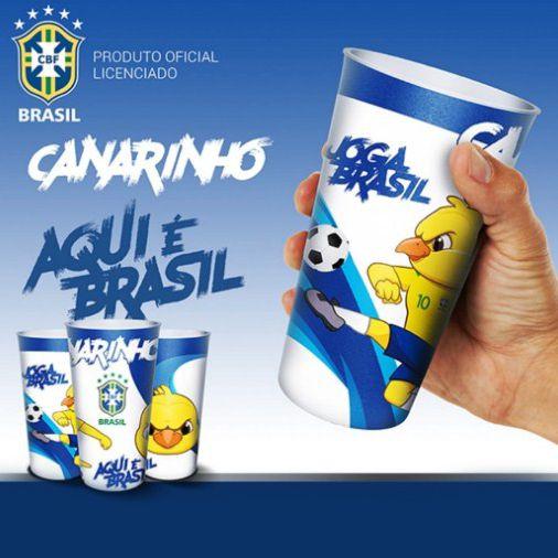Copo Oficial Colecionável Canarinho Mascote CBF Copa do Mundo 2018 770ml