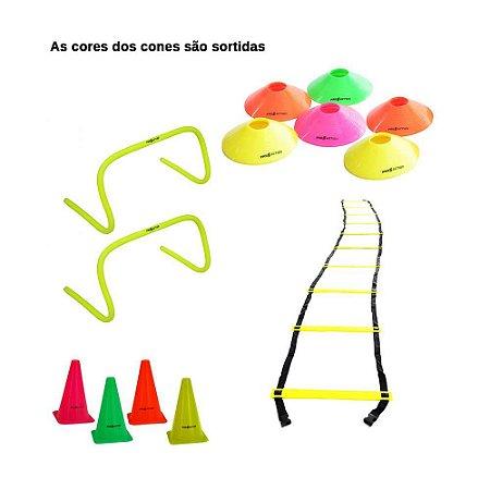 Kit Agilidade Platinum - Escada, Mini Cone, Cone, Barreiras
