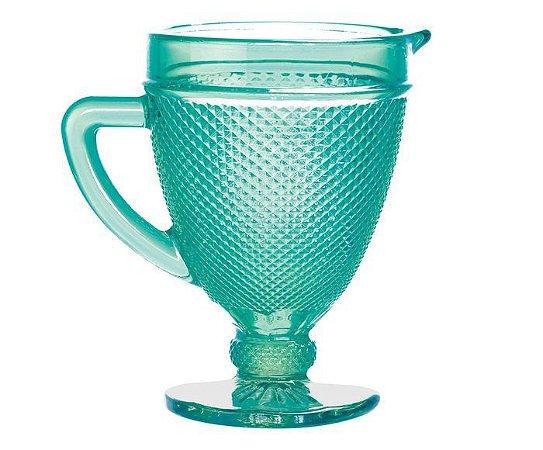 Jarra de Vidro Bico de Jaca 1L- Azul Tiffany