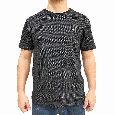 Camiseta Polo RG518 de Malha Logo Metalizado