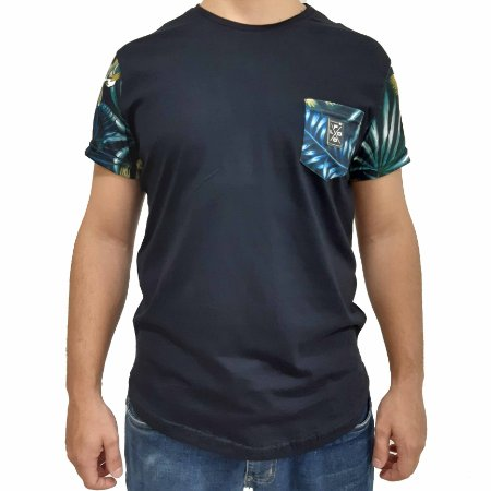 Camiseta Polo RG518 Com Bolso Estampa Florida