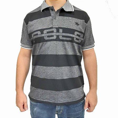Camisa Polo RG518 Piquet Com Listras