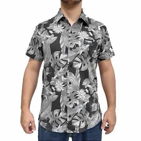 Camisa  POLO RG518 Florida Manga Curta Preta