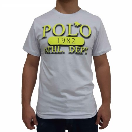 Camiseta Polo RG518 de Malha Estampada