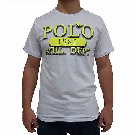 KIT com 3 Camisetas Polo RG518 de Malha Estampada