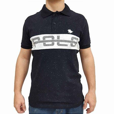 KIT com 3 Camisas Polo RG518 Botonê com Listra