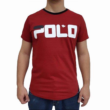 KIT com 3 Camisetas Polo RG518 de Malha Estampada SWAG