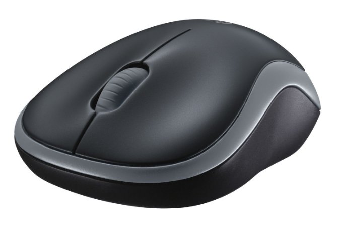 Mouse Logitech Wireless Optico M185 Cinza 910-003243