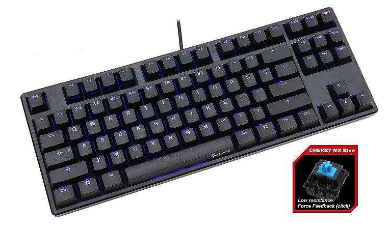 Teclado Mecânico Ducky Channel One TKL Switch Azul Iluminação Azul (DKON1687S-CUSADAAB1)