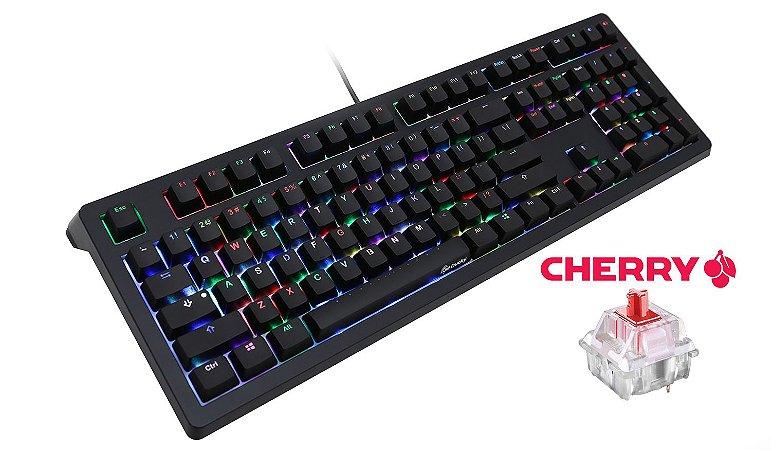 Teclado Mecânico Ducky Channel SHINE 5 Switch Vermelho Iluminação RGB (DKSH1508ST-RUSADAAT1)
