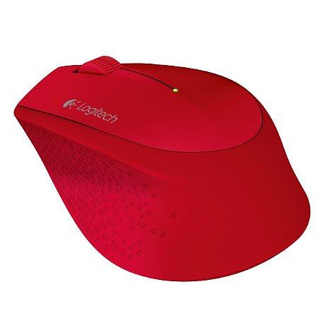 Mouse Logitech Sem Fio M280 Vermelho - 910-004286