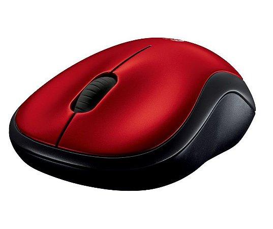 Mouse Logitech Wireless Optico M185 Vermelho 910-003635