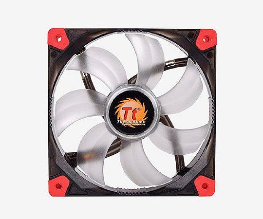 Case Fan Thermaltake Luna 12 Preto com Led Vermelho - CL-F036-PL14RE-A