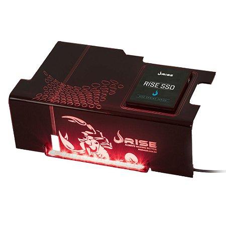 Cover PSU Rise SCORPION FIRE SSD Led Vermelho - RG-CP-02-SK