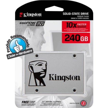 SSD Kingston 240GB UV400 Sata III - SUV400S37/240G