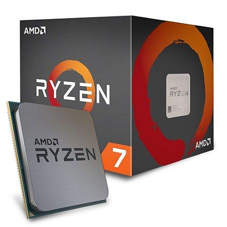 Processador AMD Ryzen 7 1800X, AM4, 8 Núcleos, 3.6GHz, Cache 20MB (4.0GHz Max Turbo) YD180XBCAEWOF