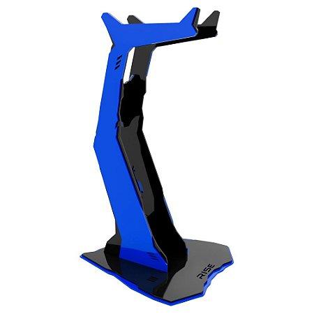 Suporte para Headset Rise Gaming Venon Preto e Azul Pequeno - RM-VN-01-BB