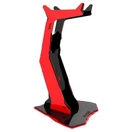 Suporte para Headset Rise Gaming Venon Preto e Vermelho Pequeno - RM-VN-01-BR