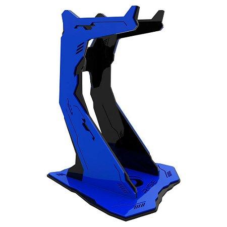 Suporte para Headset Rise Gaming Venon Pro Preto e Azul Grande - RM-VN-02-BB