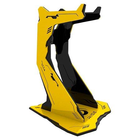 Suporte paraHeadset Rise Gaming Venon Pro Preto e Amarelo -RM-VN-02-BY