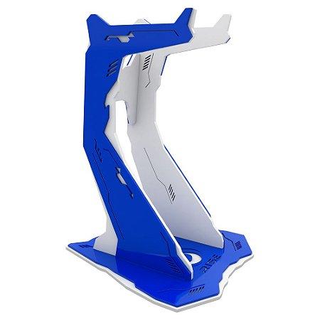 Suporte para Headset Rise Gaming Venon Pro Branco e Azul Grande - RM-VN-02-WB