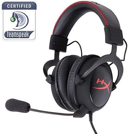 Headset Gamer HyperX CLOUD Preto e Vermelho - KHX-H3CL-WR