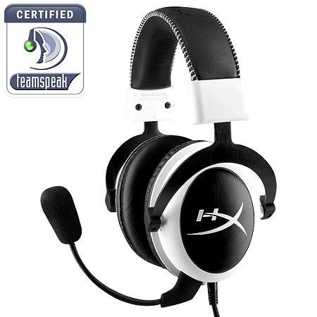 Headset Gamer HyperX CLOUD Preto e Branco- KHX-H3CLW