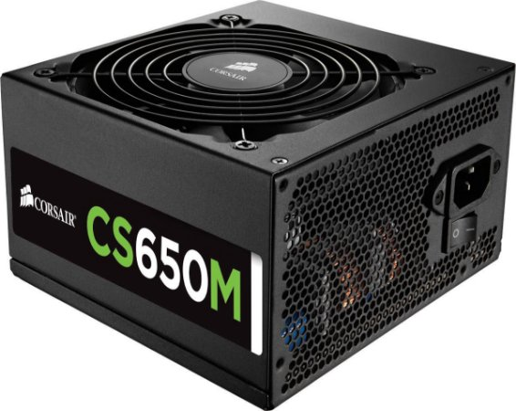 Fonte Corsair ATX SEMI-MODULAR CS650M 650W 80PLUS GOLD