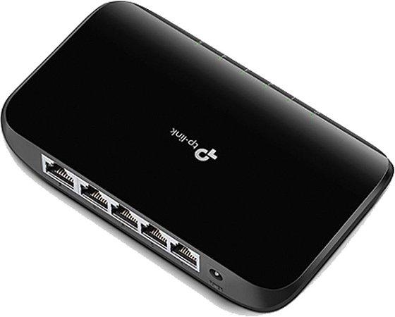 Switch 5 Portas Tp-Link GIGABIT DE MESA 10/100/1000 TL-SG1005D