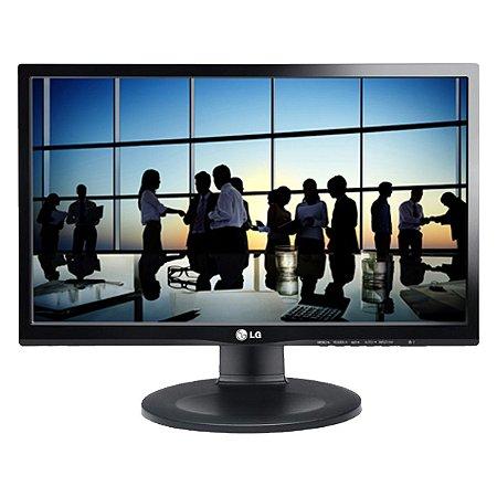 "Monitor LG LED 21,5' FULL HD 1920X1080 D-SUB (RGB), DVI, HDMI,  COM AJUSTE DE ALTURA PRETO 22MP55PQ - LG"""