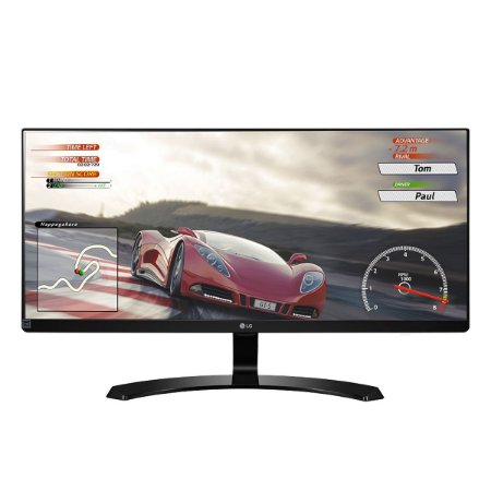 Monitor LG LED 29' ULTRAWIDE IPS FULLHD 2560X1080 2X HDMI, DISPLAY PORT, SAIDA DE AUDIO, PRETO BRILHANTE 29UM68