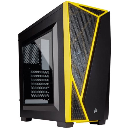 Gabinete Corsair MID TOWER GAMING CARBIDE SERIES SPEC-04 LED PRETO/AMARELO MINI ITX, MICRO ATX E ATX