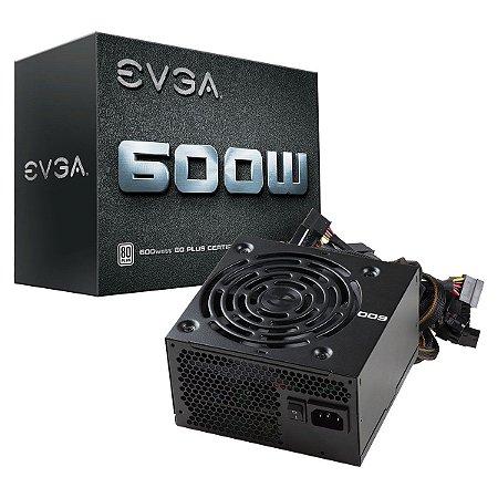 Fonte EVGA ATX 600W 80 PLUS WHITE 100-W1-0600-K0