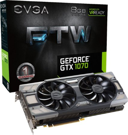Placa de Video EVGA NVIDIA GEFORCE GTX 1070 FTW GAMING 8GB GDDR5 256 BITS ACX 3.0 & RGB LED