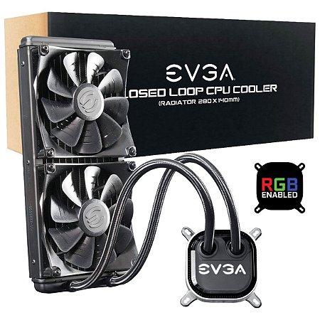 Water Cooler EVGA CLC 280 REFRIGERAÇÃO LED RGB 400-HY-CL28-V1