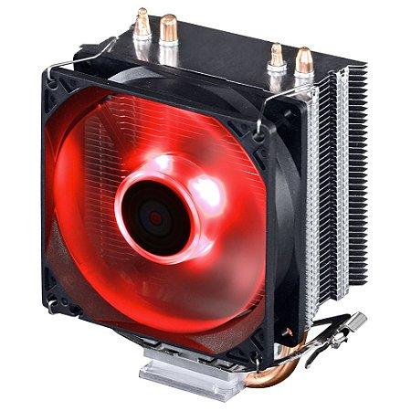 Cooler para Processador Pcyes ZERO KZ2 92mm LED VERMELHO
