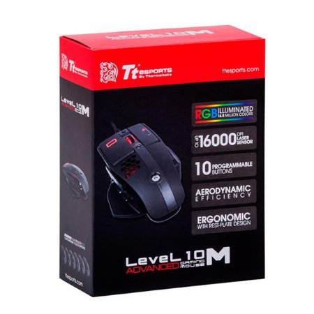 Mouse Gamer Thermaltake Ttesports LEVEL 10M ADVANCED LASER MO-LMA-WDLOBK-04