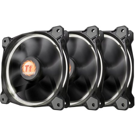 Case Fan Thermaltake Riing 12 Led Radiator WHITE 3 Pack CL-F055-PL12WT-A