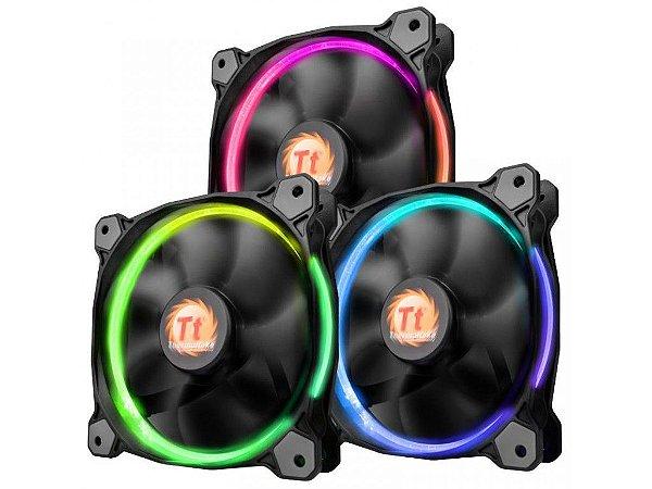 Case Fan Thermaltake Riing 12 Radiator Fan 256 Color C/3 Led SWITCH CL-F042-PL12SW-B