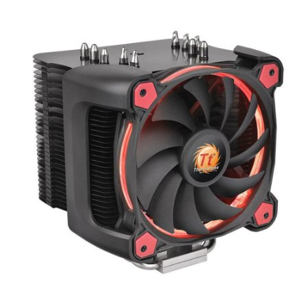 Cooler Para Processador Thermaltake Riing Silent 12 Pro Red Aluminio CL-P021-CA12RE-A