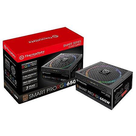 Fonte Thermaltake TT Smart 650W Pro Fully Mod 80Plus Bronze PS-SPR-0650FPCBUS-R