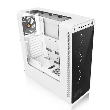 Gabinete Thermaltake TT View 27 Snow WIN/SGCC/FAN 12*4 Wihte CA-1G7-00M6WN-WT