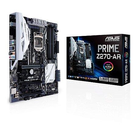 Placa Mae ASUS PRIME Z270-AR LGA1151 USB3.1 90-MB0SU0-MOEAY0