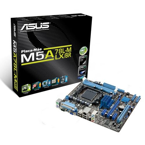 Placa Mae ASUS p/ AMD AM3+ mATX M5A78L-M LX/BR, 2xDDR3 VGA
