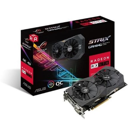 Placa de Video ASUS RADEON RX 570 4GB ROG STRIX OC EDITION DDR5 256BITS - ROG-STRIX-RX570-O4G-GAMING