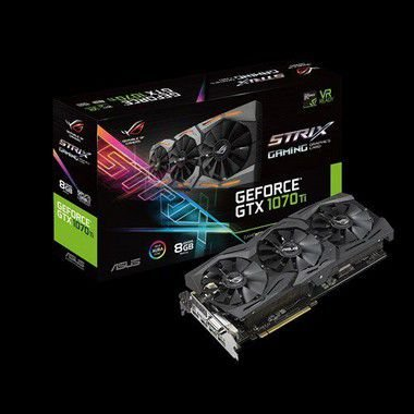 PLACA DE VIDEO ASUS GEFORCE GTX 1070 TI 8GB DDR5 - ROG-STRIX-GTX1070TI-8G-GAMING