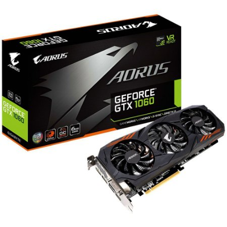 Placa De Video Gigabyte Geforce GTX 1060 AORUS 6GB DDR5 192 BITS GV-N1060AORUS-6GD R2