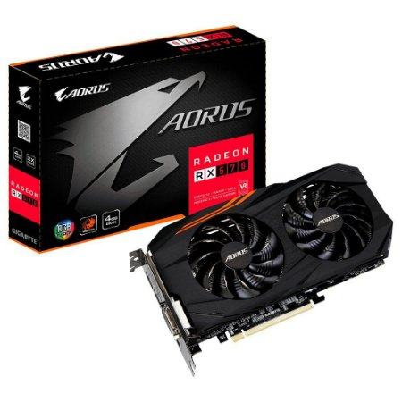 Placa de Video GIGABYTE RADEON RX 570 AORUS 4GB DDR5  256 BITS - GV-RX570AORUS-4GD