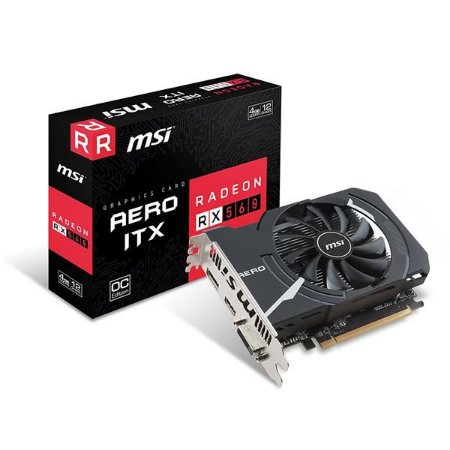 Placa de Video MSI RADEON RX 560 AERO ITX 4GB OC DDR5 128 BITS - RADEON RX 560 AERO ITX 4G OC